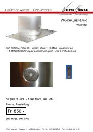 120cm 3 x 20 Watt Halogenlampen 2 Metallstrickfilter - White House