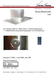 120cm • 3 x 20 Watt Halogenlampen • 2 Metallstrickfilter - White House