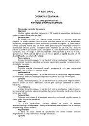 Protocol operatia cezariana - Spitalul Clinic Municipal de Urgenta ...