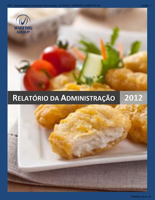 Demonstrações Financeiras Anuais Completas 2012 - Marfrig