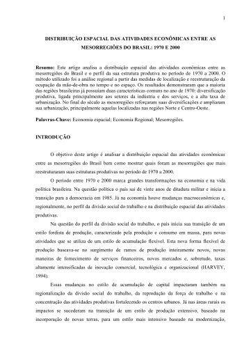 Distribuição espacial das atividades econômicas entre ... - Lucir Alves
