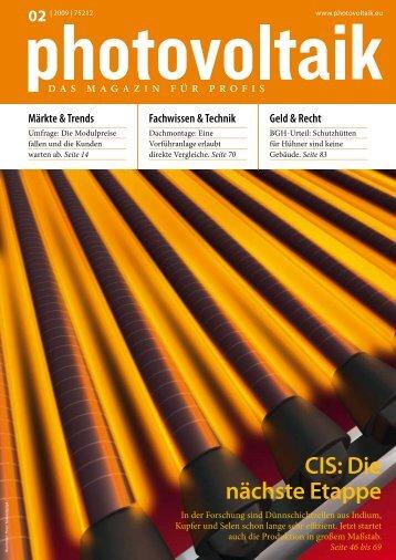 CIS: Die nächste Etappe - ZSW