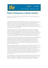 Redes Inteligentes ou Redes Verdes? - UFRJ