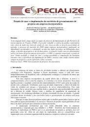 Estudo de caso: a implantação do escritório de ... - IPOG