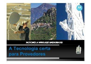 PMP vs WiFi Brasil - Motorola