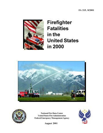 Firefighter Fatalities in the United States in 2000 - US Fire ...