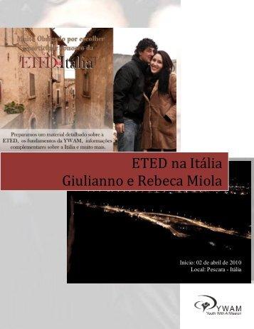 ETED na Itália Giulianno e Rebeca Miola - Comunidade Cristã das ...