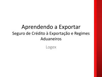 Logex - Aprendendo a Exportar