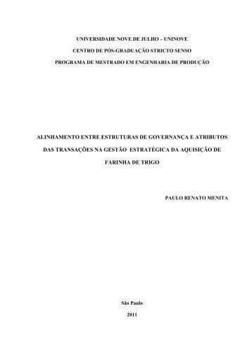 Dissertação Texto Final Paulo Renato Menita - Uninove