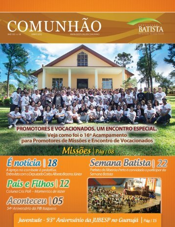Comunhão - Convenção Batista do Estado de São Paulo