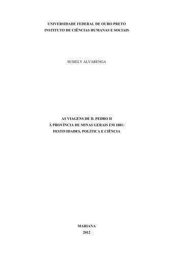 UNIVERSIDADE FEDERAL DE OURO PRETO ... - ICHS/UFOP