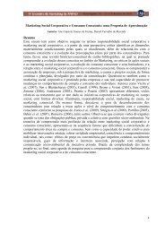 Marketing Social Corporativo e Consumo Consciente: uma ... - Anpad