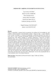 15. CRÉDITO DE CARBONO: Investimento Sustentável