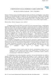 O silêncio em Natalia Ginzburg e Clarice Lispector - Faculdade de ...