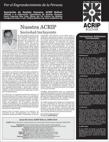 Boletin ACRIP No.3 2008 - ACRIP Bolívar