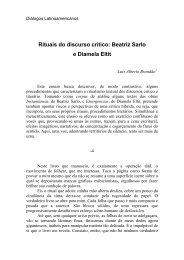 Rituais do discurso crítico: Betriz Sarlo e Diamela Eltit