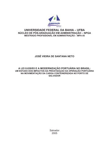 UNIVERSIDADE FEDERAL DA BAHIA – UFBA - RI UFBA ...