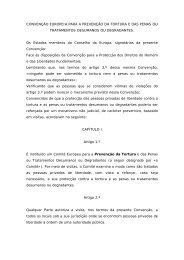 CONVENÇÃO EUROPEIA PARA A PREVENÇÃO DA TORTURA E ...
