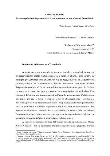 A Morte no Budismo - Paulo Borges
