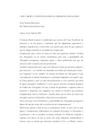 CARTA ABERTA À EXMª BASTONÁRIA DA ORDEM DOS ... - iOnline