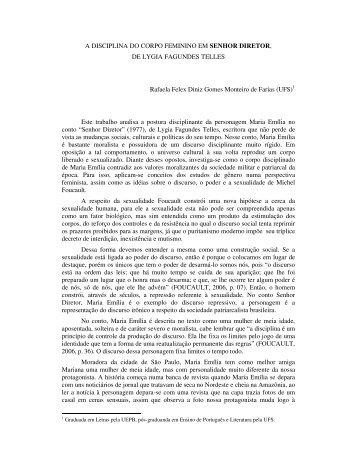 A DISCIPLINA DO CORPO FEMININO EM SENHOR ... - Uesc
