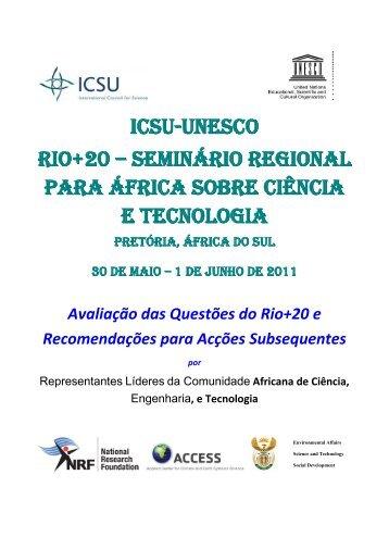 ICSU-UNESCO Rio+20 - International Council for Science