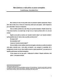 María Zambrano-um pensar contemplativo - Universidade de Évora
