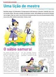 O sábio samurai Uma lição de mestre - Fátima Missionária