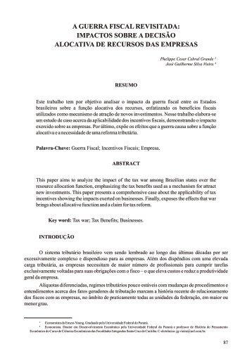 15 A guerra fiscal revisitada - Faculdades Santa Cruz