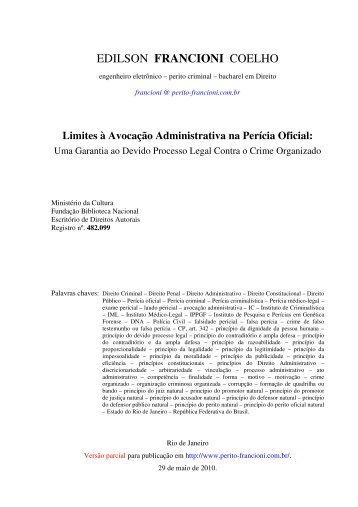 versão em PDF - perito FRANCIONI