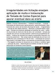 Irregularidades em licitação ensejam aplicação de ... - Revista do TCE