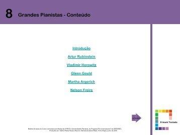 8 Grandes Pianistas - Conteúdo - Pró-Licenciatura em Música EAD ...