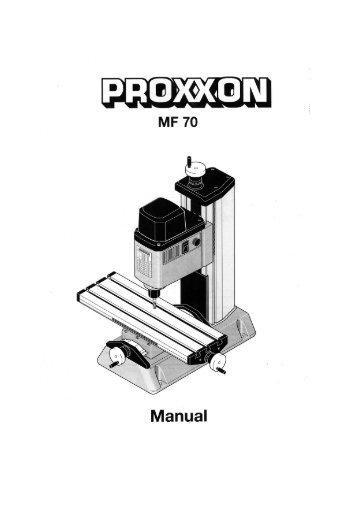 PROXXON Mikro Fräse