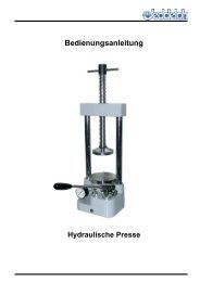 Hydraulische Presse - Horst zu Jeddeloh