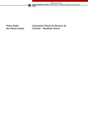 Pedro André dos Santos Gaspar Laboratório Virtual de Sistemas de ...