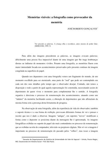 José Roberto Gonçalves - XI Encontro Nacional de História Oral