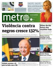 Violência contra negros cresce 132% - Metro