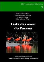 Lista das aves do Paraná - Atualidades Ornitológicas