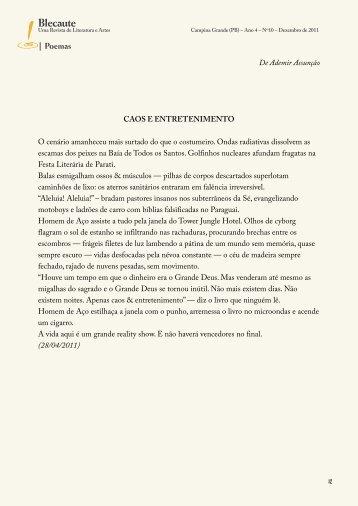 Poemas - Revista Blecaute