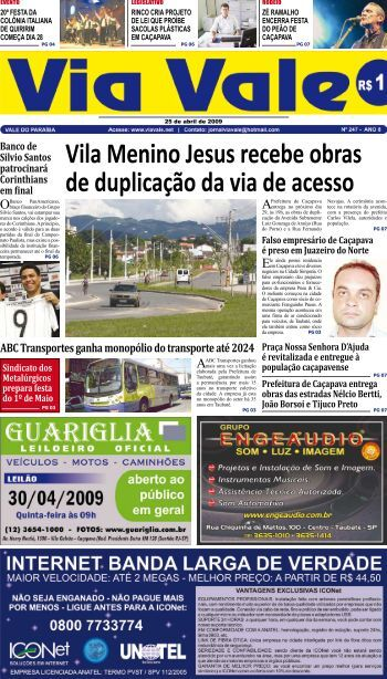 Vila Menino Jesus recebe obras de duplicação da via de ... - Via Vale