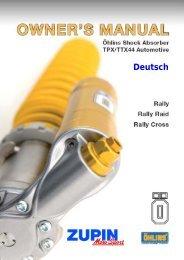 TPX/TTX44 Rallyedämpfer - Zupin
