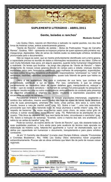 versão completa em pdf - Academia Goiana de Letras