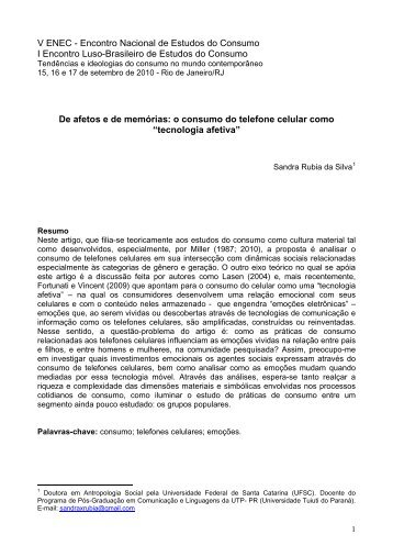 o consumo do telefone celular como - Estudos do Consumo