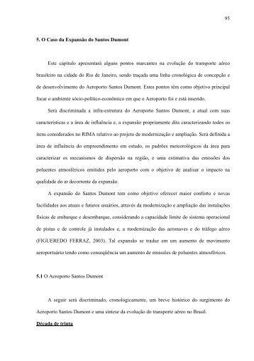 O Impacto da Expanso do Aeroporto Santos Dumont na ... - Rede PGV