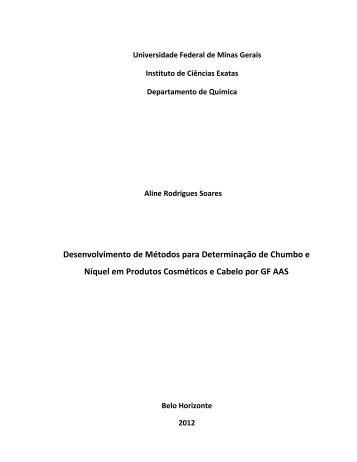 capitulo 1 - Biblioteca Digital de Teses e Dissertações da UFMG
