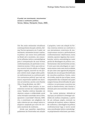 RESENHA O poder em movimento - Revista do PPGSA - UFRJ