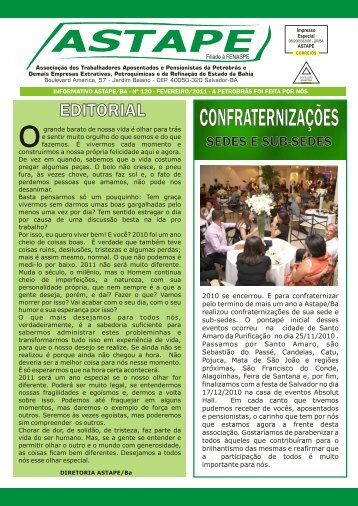 informativo astape/ba - nº 120 - fevereiro/2011