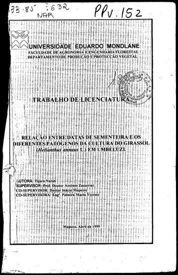Page 1 Page 2 Dedicatória Tese de Licenciatura Dedìco este ...
