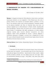 A DEMONIZAÇÃO DO PARAÍSO: FÉ E ... - Revista Historien