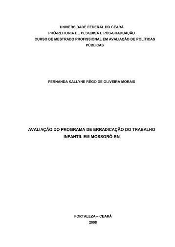 avaliação do programa de erradicação do trabalho infantil
